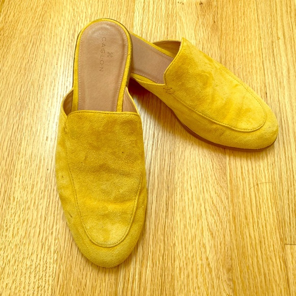 Caslon Yellow Suede Mules size 7 1/2